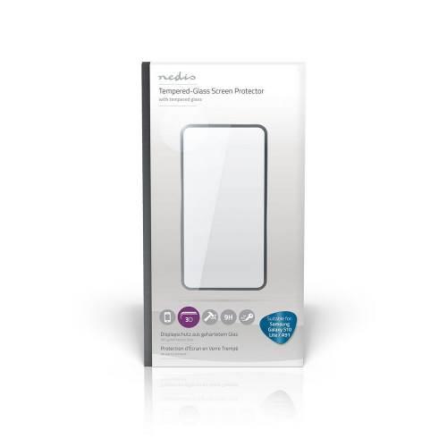 Nedis SFGP10019TP Screenprotector van Gehard Glas voor Samsung Galaxy S10 Lite / A91   Volledige dekking   3D gebogen...