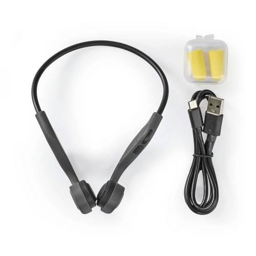 Nedis HPBT5400GY Hoofdtelefoon Met Beengeleiding | Afspeeltijd 6,5 Uur | Bluetooth-Verbinding | 8 GB Intern Geheugen ...