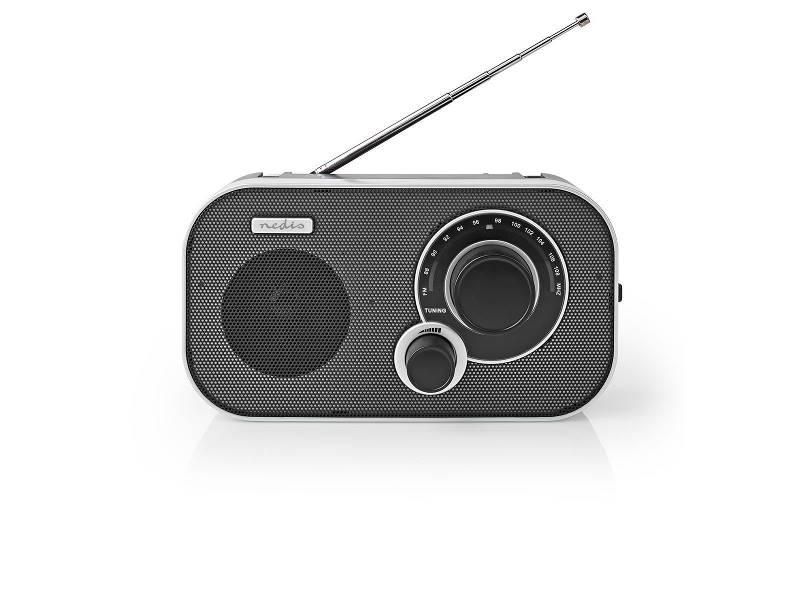 Nedis RDFM1320SI FM-Radio | 1,5 W | Draaggreep | Zilver/Zwart