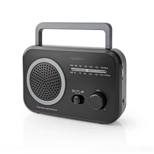 Nedis RDFM1330GY FM/AM-Radio | 1,8 W | Zakformaat | Zwart