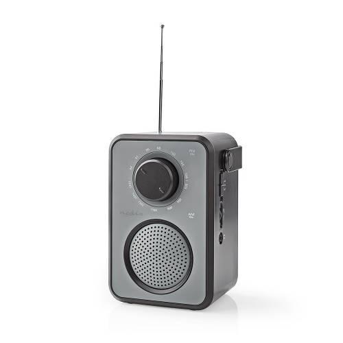 Nedis RDFM1400GY FM-Radio | 1,8 W | Draaggreep | Grijs/Zwart