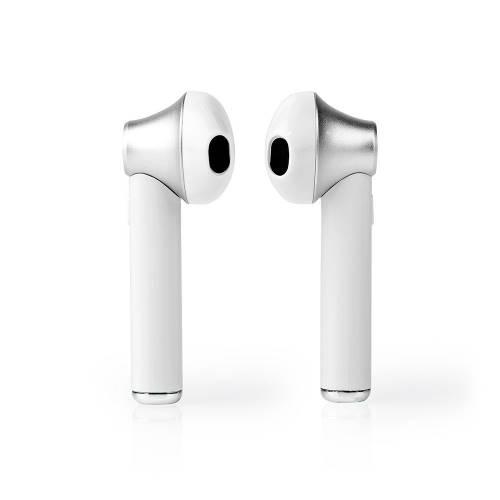 Nedis HPBT3052WT Volledig Draadloze Bluetooth®-oordopjes | 3 uur Afspeeltijd | Spraakbediening | Charging Case | Wit