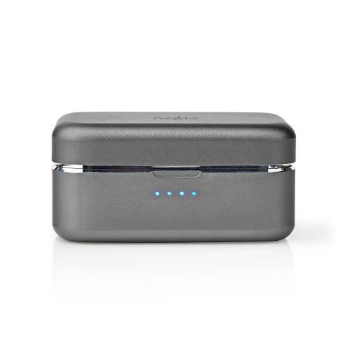 Nedis HPBT5056GY Volledig Draadloze Bluetooth®-oordopjes | 3 uur Afspeeltijd | Spraakbediening | Aanraakbediening | C...