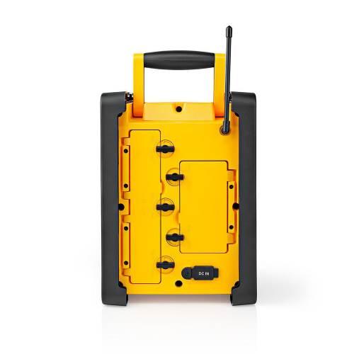 Nedis RDFM3100YW FM-Bouwradio | 15 W | Bluetooth® | IPX5 | Handvat | Geel / Zwart