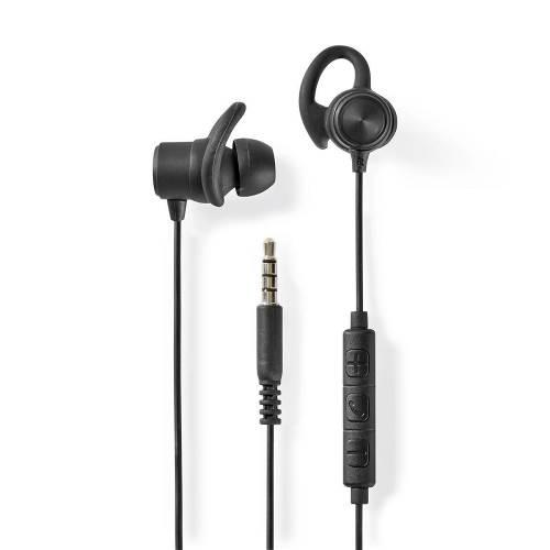 Nedis HPWD8002BK Sportkoptelefoon | Bekabeld | In het oor | 1,2 m kabel | Zwart