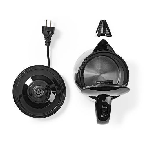 Nedis KAWK130EBK Elektrische Waterkoker | 1,7 liter | 360° draaibaar | Zwart