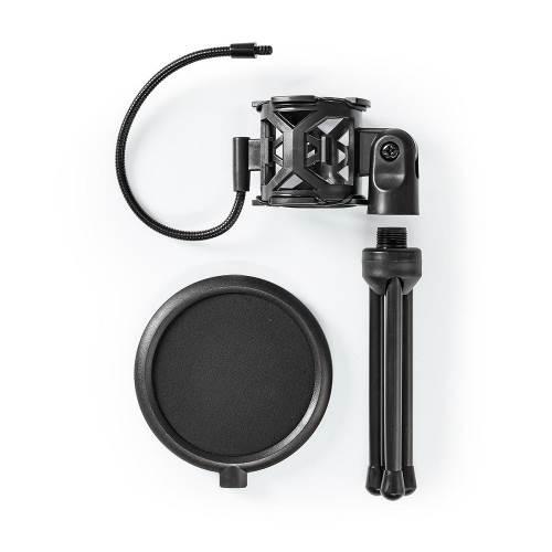 Nedis MPST00BK Microfoon-Tafelstatief | Pop-filter | Zwart