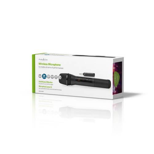 Nedis MPWL200BK Draadloze microfoon | 20 kanalen | 1 microfoon | 10 uur gebruikstijd | Ontvanger | Zwart