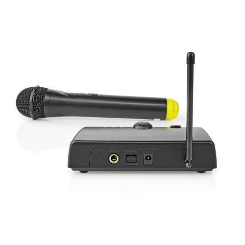 Nedis MPWL500BK Draadloze microfoon   1 kanaal   1 microfoon   5 uur gebruikstijd   Ontvanger   Zwart