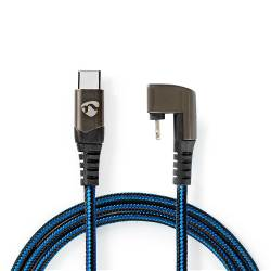 Nedis GCTB39650AL20 Data- en oplaadkabel | USB-C-™ Male naar Apple Lightning 8-pins Male | Gaming connector 180° | 2,...
