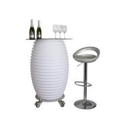 Nikki.Amsterdam 13000 The.Bar Table | Multicolor Bar Table & Bluetooth Speaker & Wine Cooler