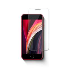 Nedis SGP20013TP Glazen schermbeschermer voor Apple iPhone SE (2020) | 2,5D afgeronde rand | Transparant