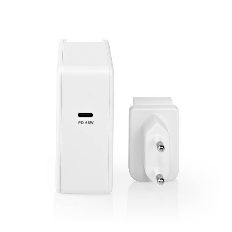 Nedis WCPD65W105WT Thuislader | 3,0 A / 3,25 A | Outputs: 1 | Poorttype: 1x USB-C™ | USB Type-C™ (Los) Kabel | 3.00 m...