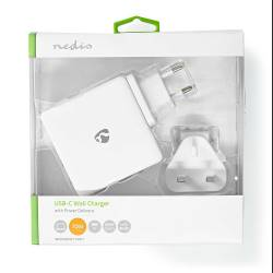 Nedis WCPD65W110WT Thuislader   1,5 A / 2 A / 3,0 A / 3,25 A   Outputs: 2   Poorttype: 2x USB-C™   15 / 18 / 27 / 36 ...