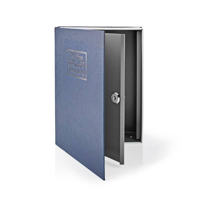 Nedis BOOKSEDL01BU Kluis | Boekenkluis | Sleutelslot | Binnenshuis | Groot | Binnenvolume: 2.8 l | 2 Sleutels inbegre...