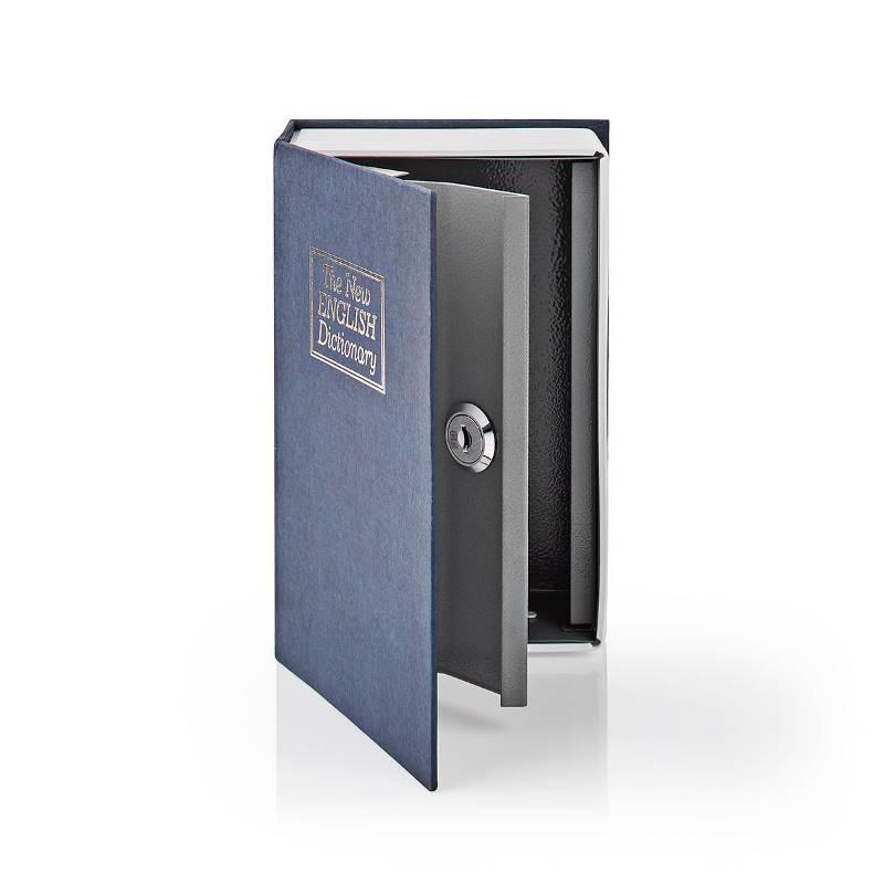 Nedis BOOKSEDS01BU Kluis   Boekenkluis   Sleutelslot   Binnenshuis   Klein   Binnenvolume: 0.86 l   2 Sleutels inbegr...
