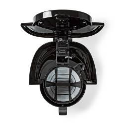 Nedis KACM250EBK Koffiezetapparaat   Maximale capaciteit: 1.0 l   8   Warmhoudfunctie   Klokfunctie   Zwart