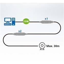 Aten UE3315A 15 m USB3.2 Gen1 verlengkabel