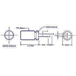 Velleman Elco radiaal 33µf / 350v (2)