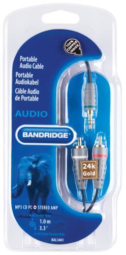 Bandridge BAL3401 Audiokabel voor draagbaar apparaat 1.0 m