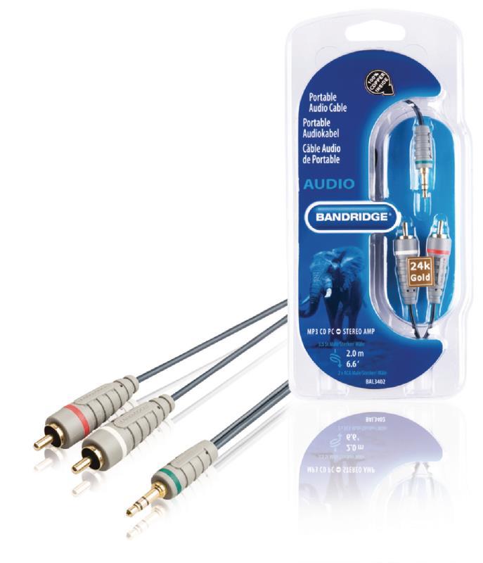 Bandridge BAL3402 Audiokabel voor draagbaar apparaat 2.0 m