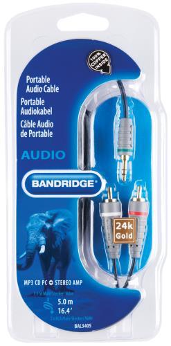 Bandridge BAL3405 Audiokabel voor draagbaar apparaat 5.0 m