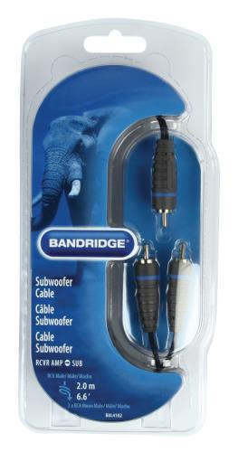 Bandridge BAL4102 Kabel voor subwoofer 2.0 m