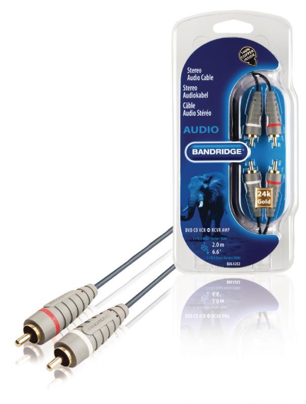 Bandridge BAL4202 Stereo-audiokabel 2.0 m