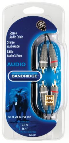 Bandridge BAL4205 Stereo-audiokabel 5.0 m