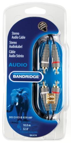 Bandridge BAL4210 Stereo-audiokabel 10.0 m