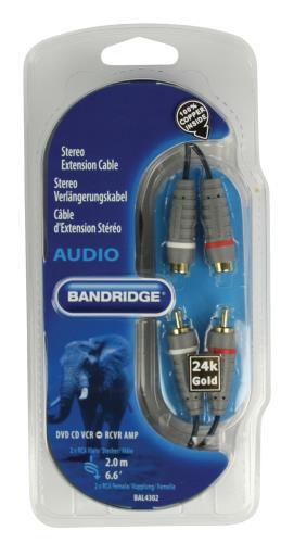 Bandridge BAL4302 Stereo-verlengkabel 2.0 m