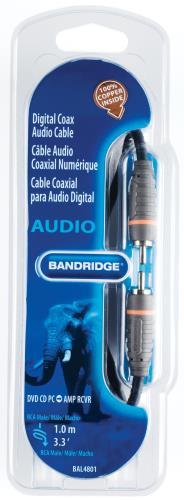 Bandridge BAL4801 Digitale coax-audiokabel 1.0 m
