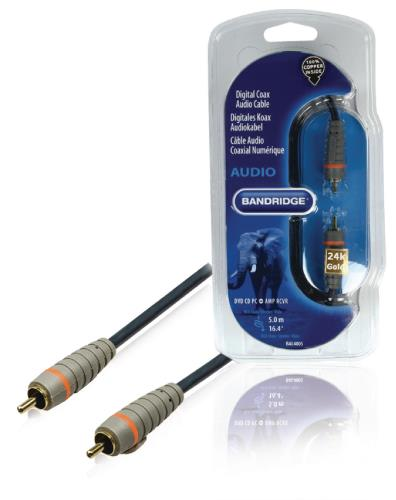 Bandridge BAL4805 Digitale coax-audiokabel 5.0 m