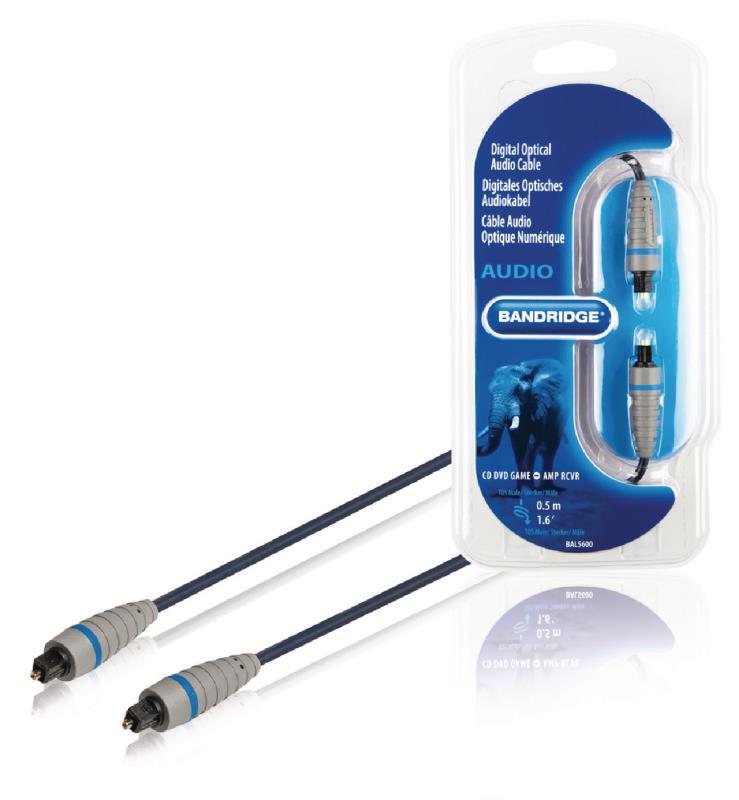 Bandridge BAL5600 Digitale optische audiokabel 0.5 m