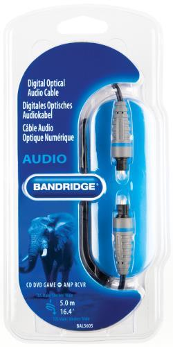 Bandridge BAL5605 Digitale optische audiokabel 5.0 m