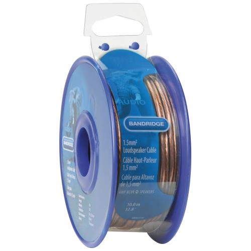 Bandridge BRM1510 1,5 mm² luidsprekerkabel 10,0 m transparant