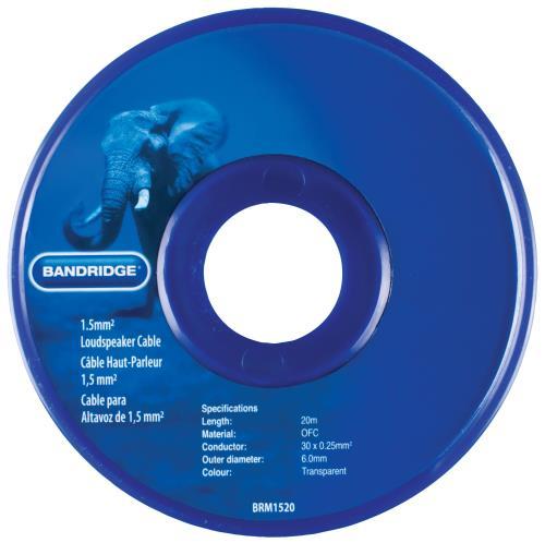 Bandridge BRM1520 1,5 mm² luidsprekerkabel 20,0 m transparant