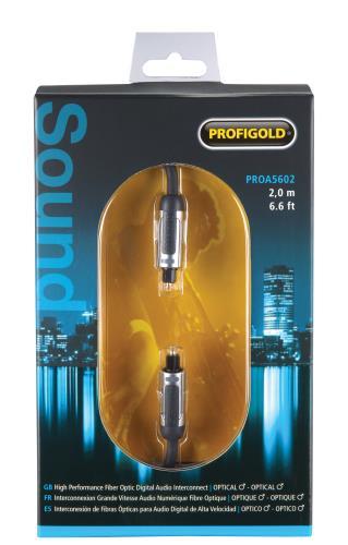 Profigold PROA5602 Optische audiokabel TosLink male - male 2,00 m zwart