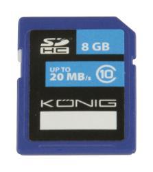 König CSSDHC8GB SDHC geheugenkaart Class 10 8 GB