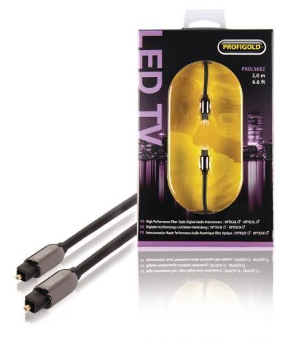 Profigold PROL5602 Optische audiokabel TosLink male - male 2,00 m zwart