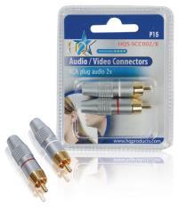 HQ HQS-SCC002/B RCA audio pluggen (2x)