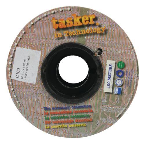 Tasker C100 2x1.00 Luidsprekerkabel 2 x 1,00 mm² op rol 100 m grijs