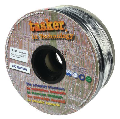 Tasker C121 Audio kabel 2 x 0,25 mm² op rol van 100 m