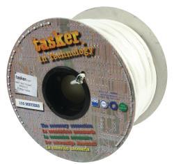 Tasker C127 WHITE Voedingskabel 3 x 0,75 mm² op rol van 100 m wit
