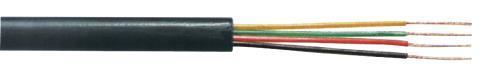 TASR-C604-BLK Telefoonkabel 4 aders op rol van 100 m zwart