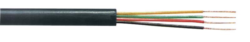 Tasker C604 BLACK Telefoonkabel 4 aders op rol van 100 m zwart