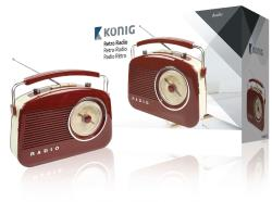 König HAV-TR710BR Retrodesign AM/FM-radio - bruin