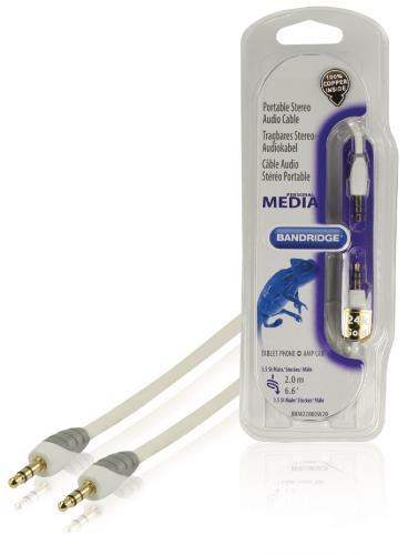 Bandridge BBM22000W20 Draagbare stereo-audiokabel 2,0 m