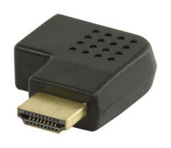Valueline VGVP34904B HDMI-adapter HDMI-connector rechts gehoekt - HDMI input zwart