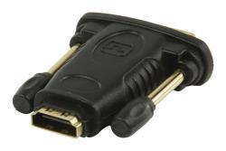 Valueline VGVP34912B DVI - HDMI-adapter DVI mannelijk - HDMI input zwart